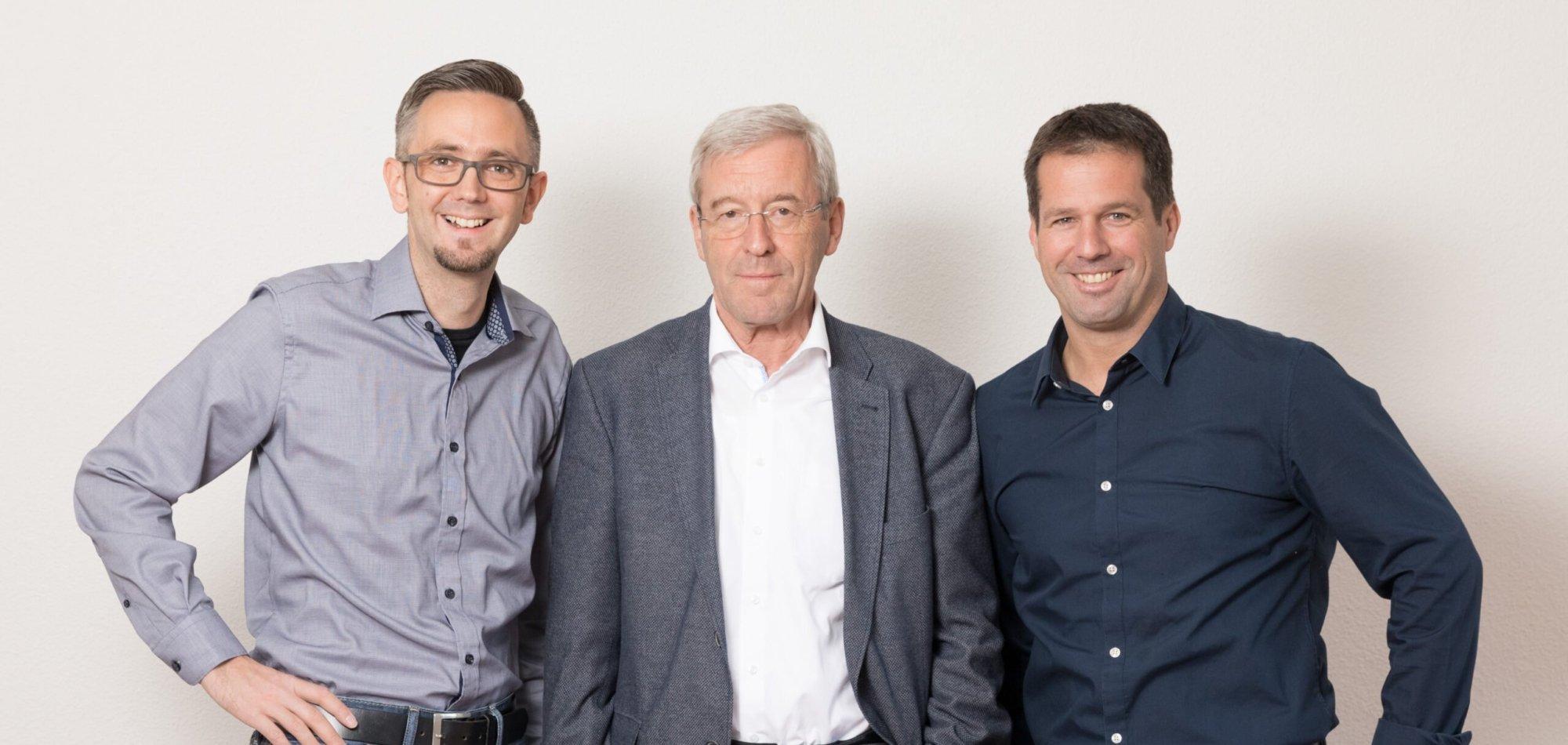 Josef Albert und Sepp Burch mit Vorgänger Heinz Meier