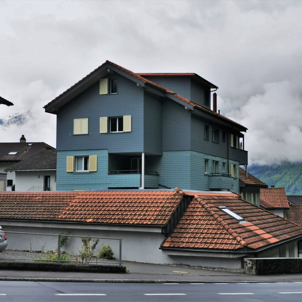 Aussenansicht Aufstockung Mehrfamilienhaus
