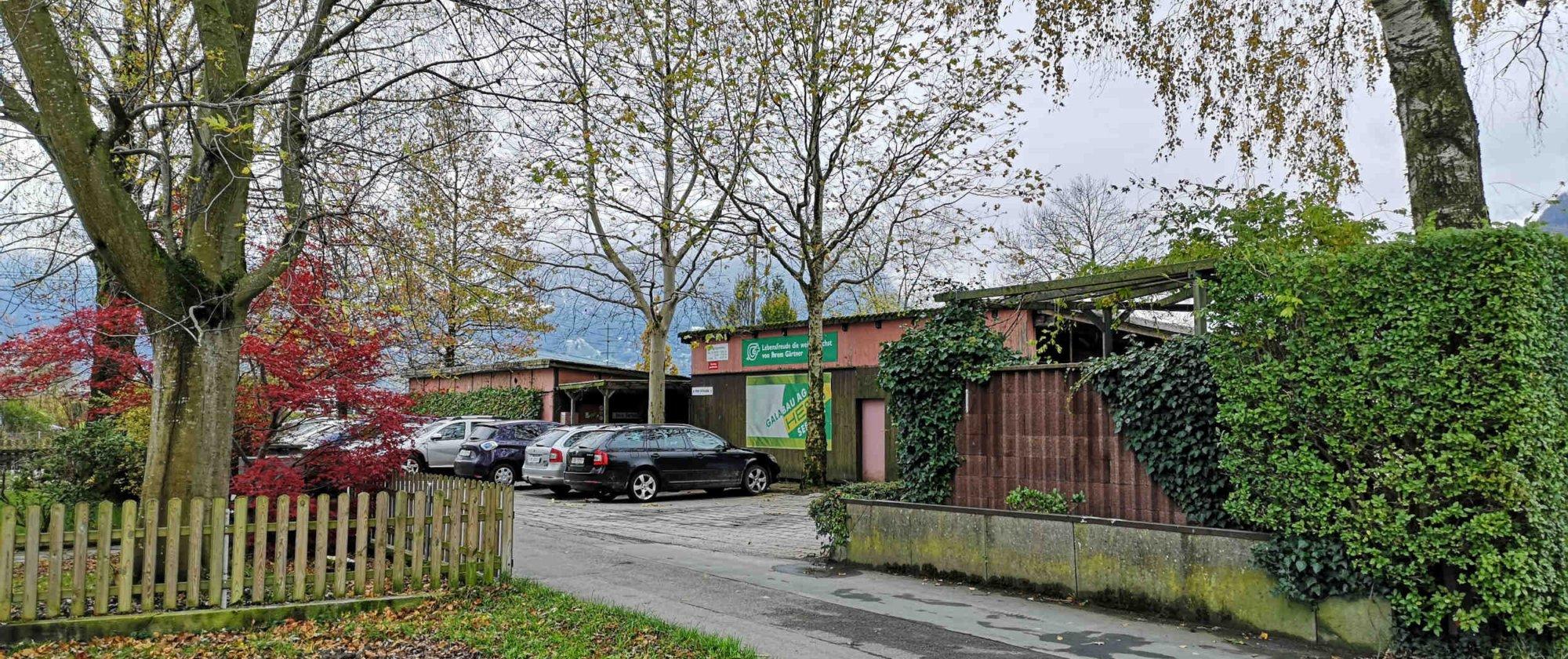ehemaliger Werkhof der Hess Galabau AG vor dem Abbruch