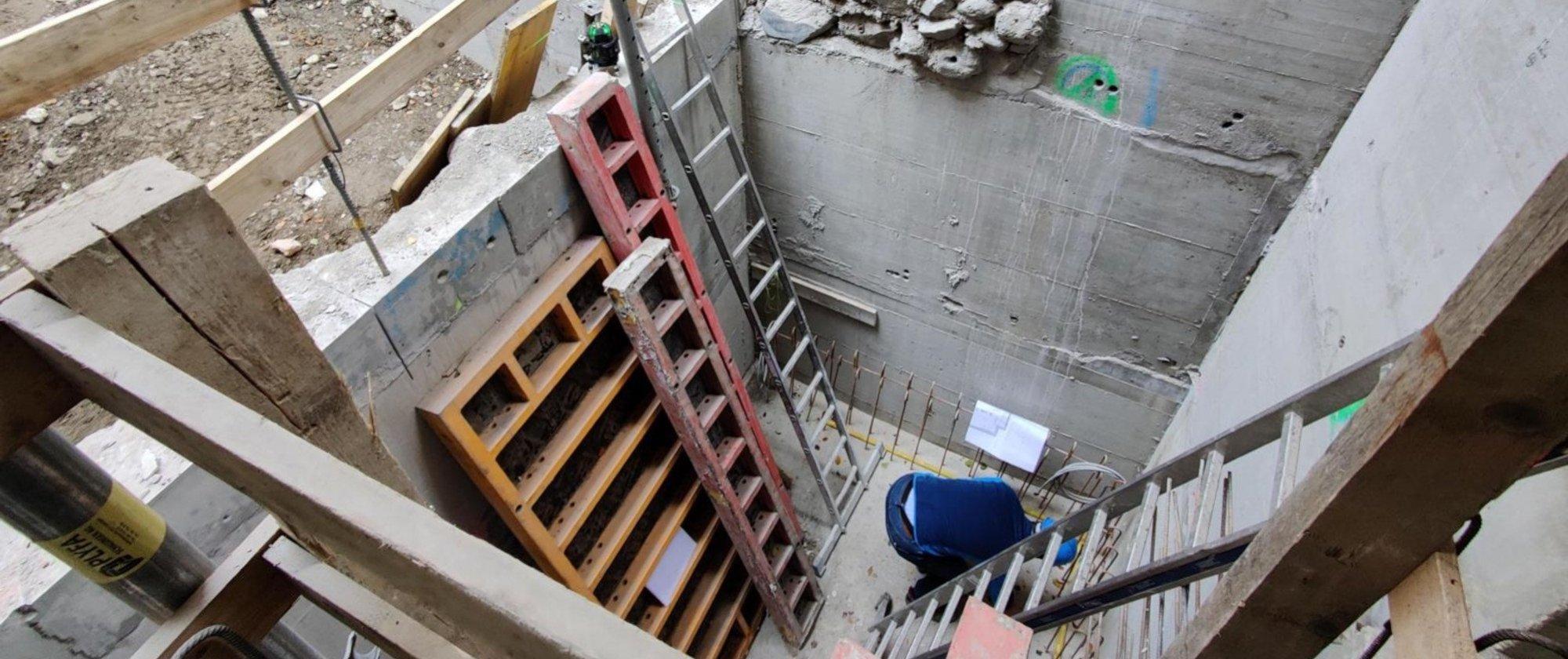 neue Kellerräume mit Wandunterfangungen