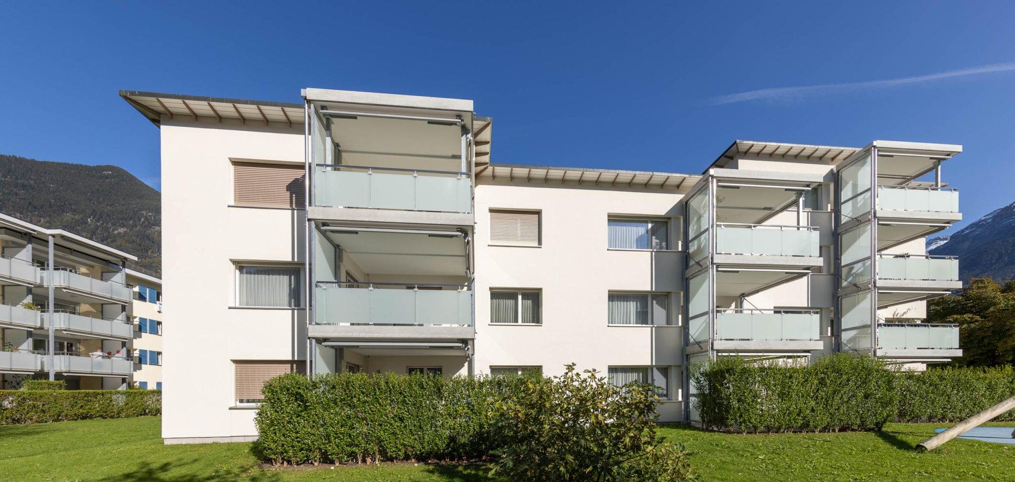 Vergrösserung der bestehenden Balkone