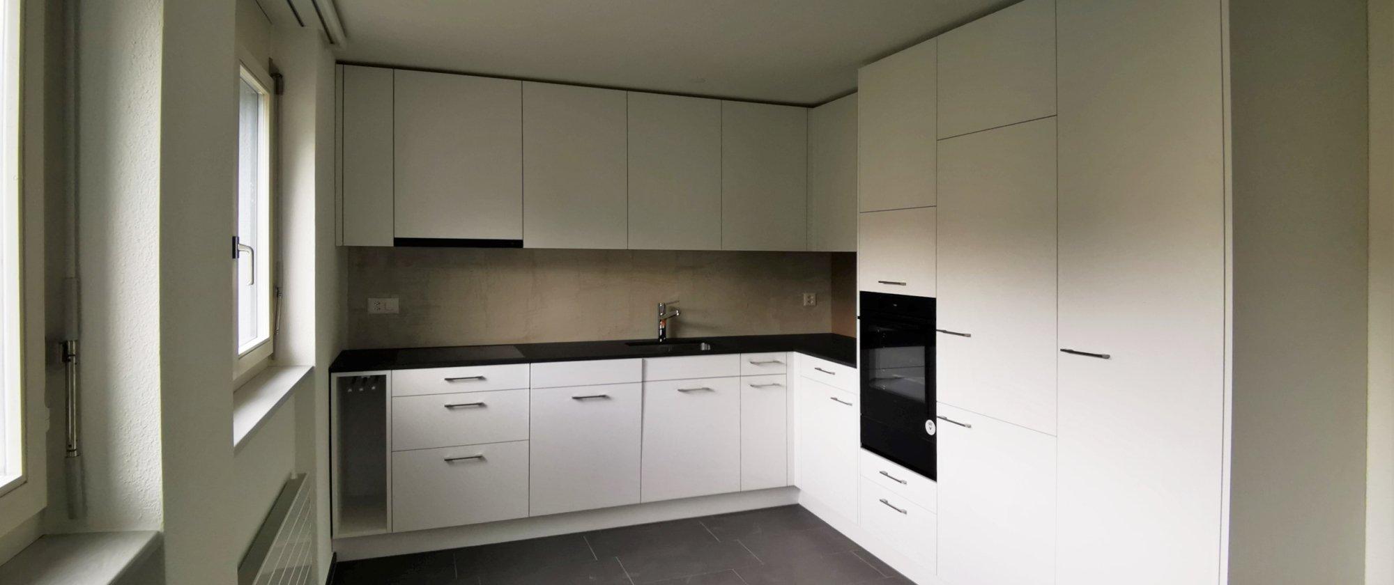 die neue Küche nach dem Umbau